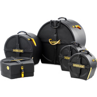 Hardcase 5 Pce Drum Set Cases 10/12/14S/16/22 Inch Pink]