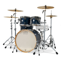 DW Design Limited Edition 4 Piece Shell Pack Midnite Blue   DW Design Limited Edition 4 Piece Shell Pack Midnite Blue