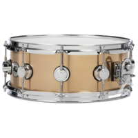 DW 'Collectors Metal' Knurled Bronze 14 x 5.5 Inch Snare Drum with Chrome Hardware