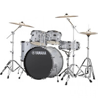 RYDEEN EURO DRUM KIT IN SILVER GLITTER