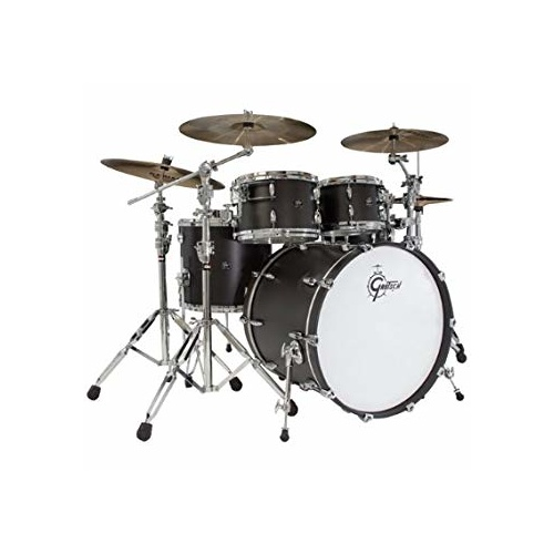 Gretsch Brooklyn USA 4-Pce Drum Kit [Finish: Satin Black Metallic]
