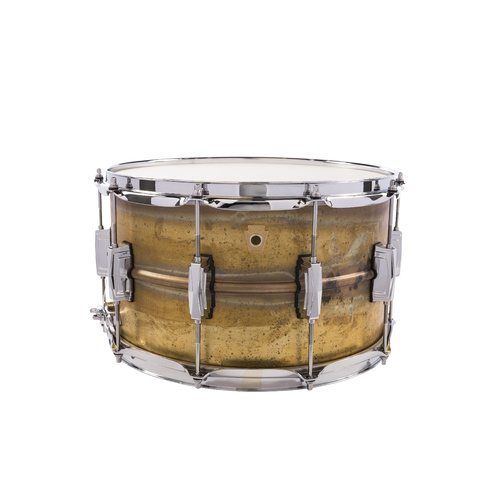 LUDWIG RAW BRASS PHONIC 6.5X14 IMPERIAL LUGS