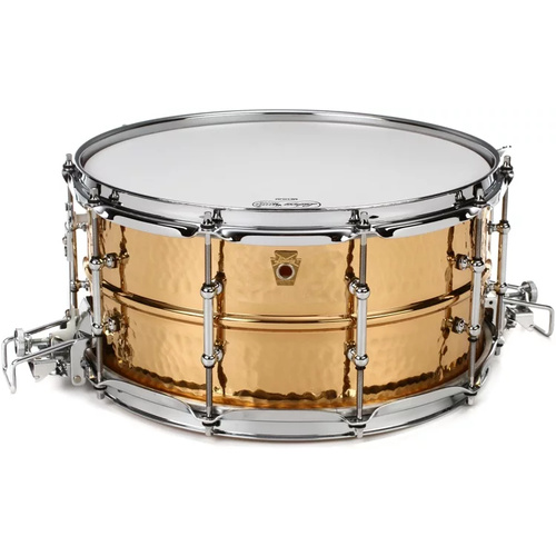 "Ludwig Hammered Brass 6.5 x 14"" Snare Drum"
